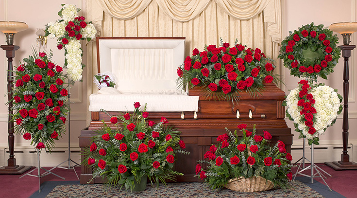 Image result for funeral flowers